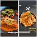 Beef Lasagna & Tiger Prawn Arabiatta