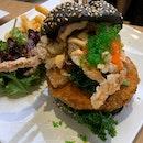 Seafood Fiesta Charcoal Burger | $25.00