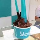 Natural Frozen Yogurt (Chocolate Toppings)