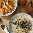 Truffle Mushroom Pasta & Chilli Prawn Pasta