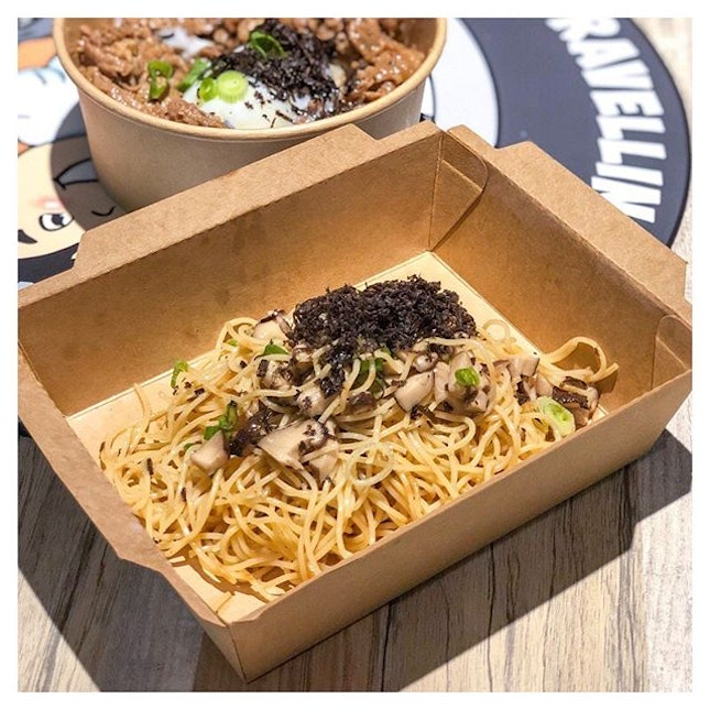 [📍Trufflicious, Singapore ] Missing this glorious bowl of cold Truffle Mushroom Pasta from the Trufflelicious food truck at Funan.