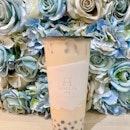 Milk Tea With Sesame Pearl !