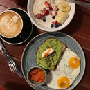 Avocado Toast, Amira's Breakfast Bowl & Coffee