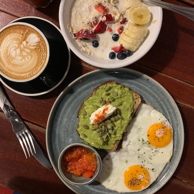 Avocado Toast, Amira's Breakfast Bowl & Coffee