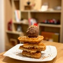 Classic Waffle W/ Chocolate Ice Cream