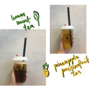 lemon mint tea & pineapple passionfruit tea
