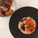 Salmon Mentai Pasta & Beef Foie Gras Bowl