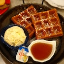 Plain Waffle With Ice-cream Of Choice