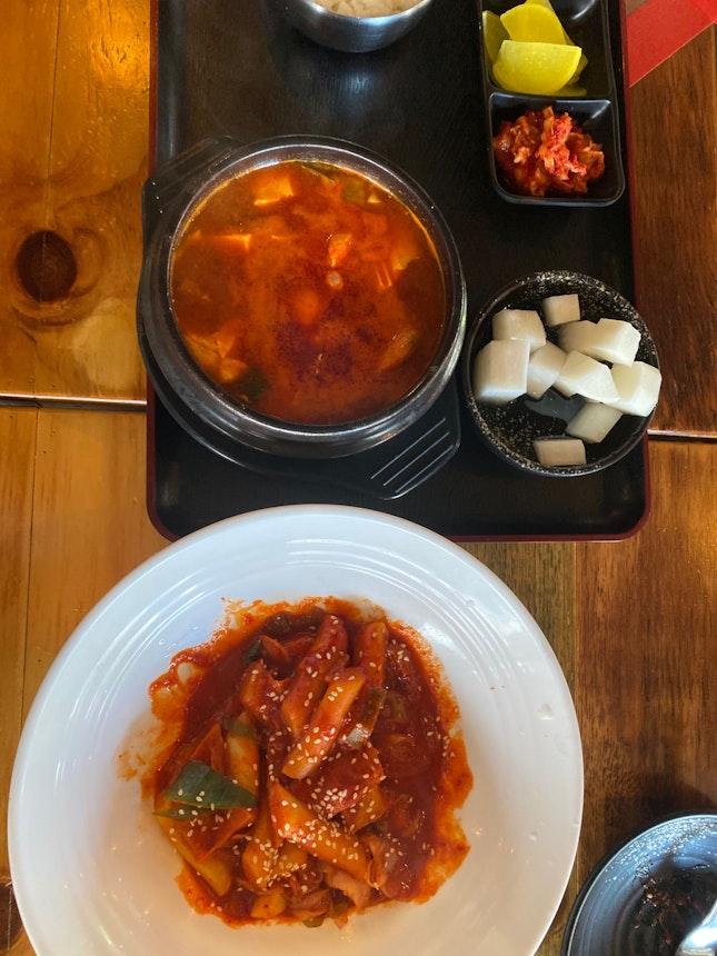 Kimchi Soup And Rice Cake
