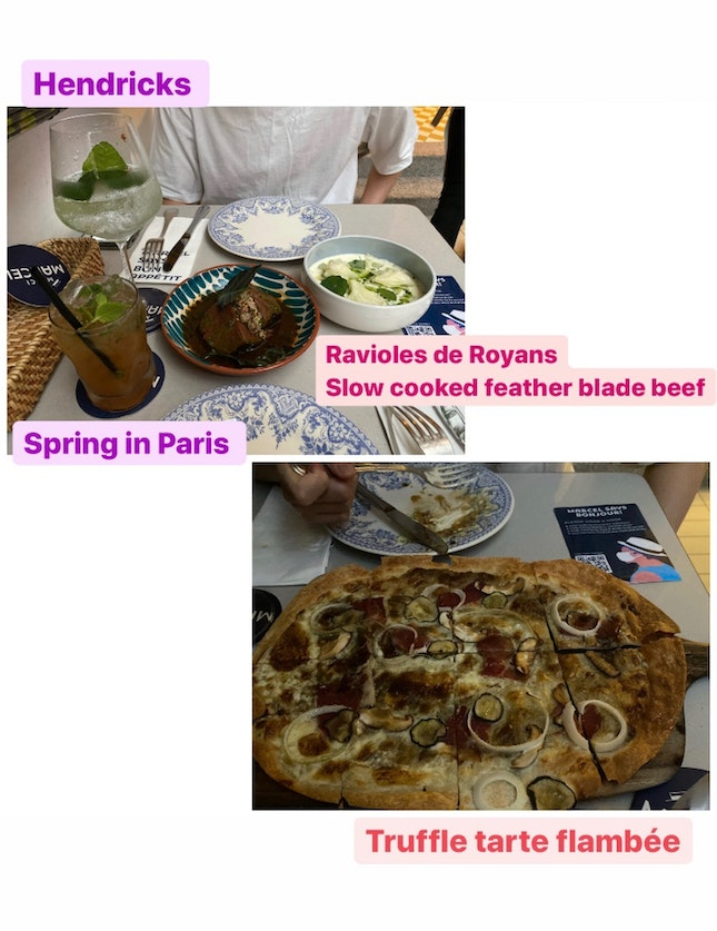 French Dumplings, Pizza And Beef