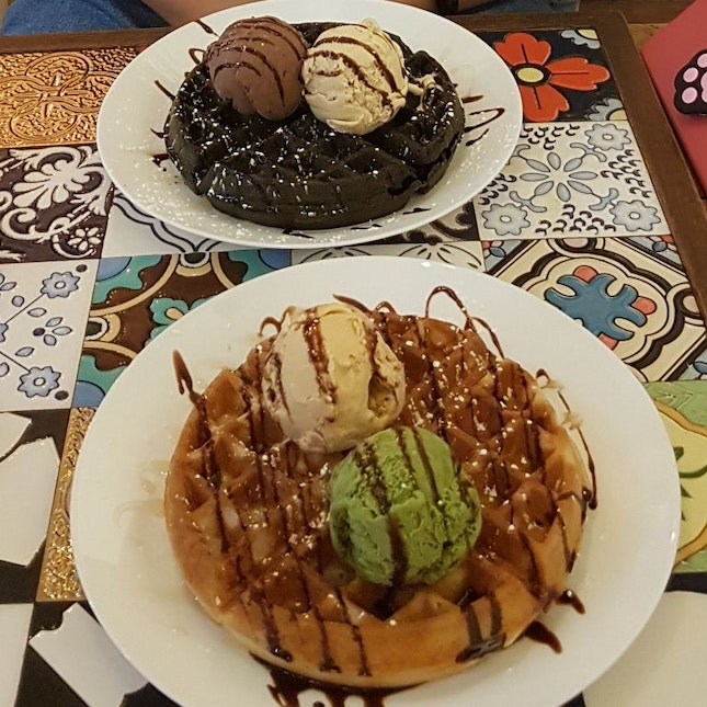 Waffles With Ice-creams