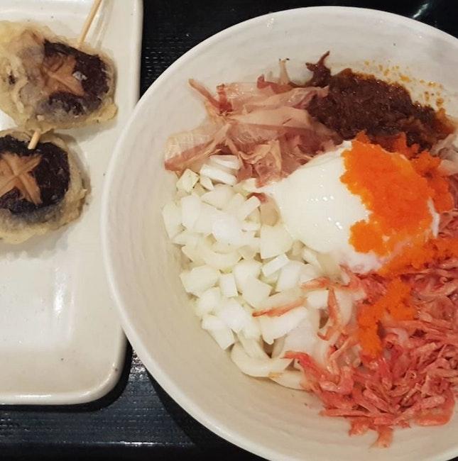 Oooh-mami Udon [$10.80] and Shiitake Mushroom Tempura