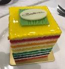 Zesty Rainbow Cake