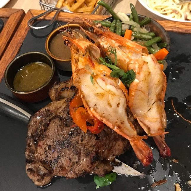 Prawn & Steak