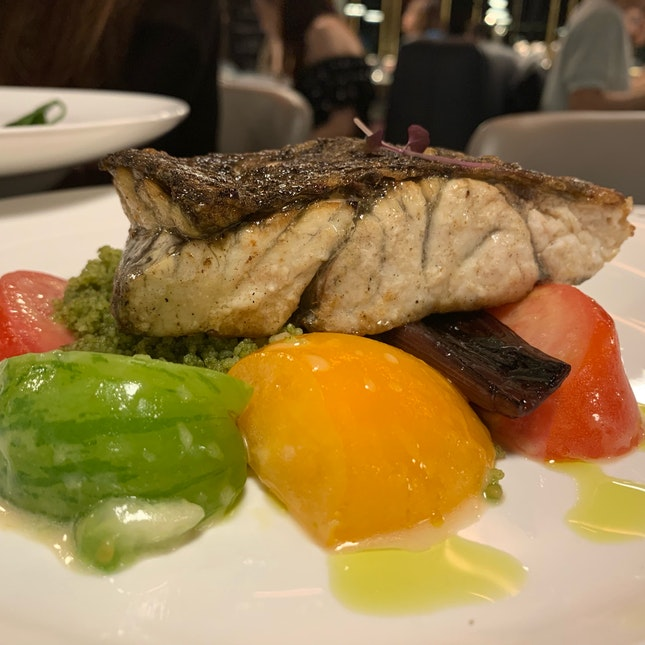 Barramundi, Pork Belly And Tuna Salad