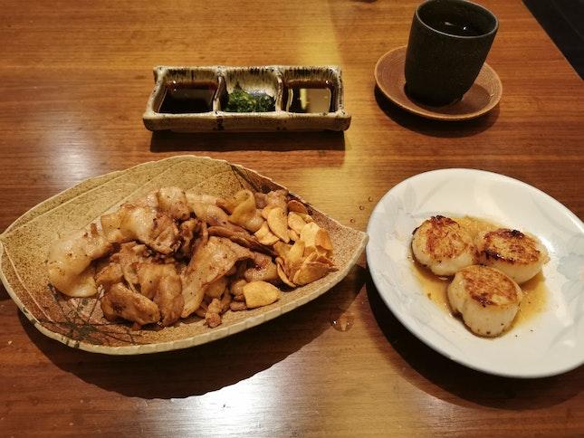 Teppanyaki Pork 150g and Scallops