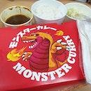 🍛🍤 Monster Curry's Pork Katsu and Shrimp Tempura 😁 .