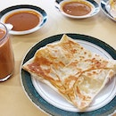 Yummy onion roti prata for breakfast .