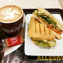 ☕ Chicken Pesto Sandwich and Mochaccino set (S$9) at McCafe Jurong Point .