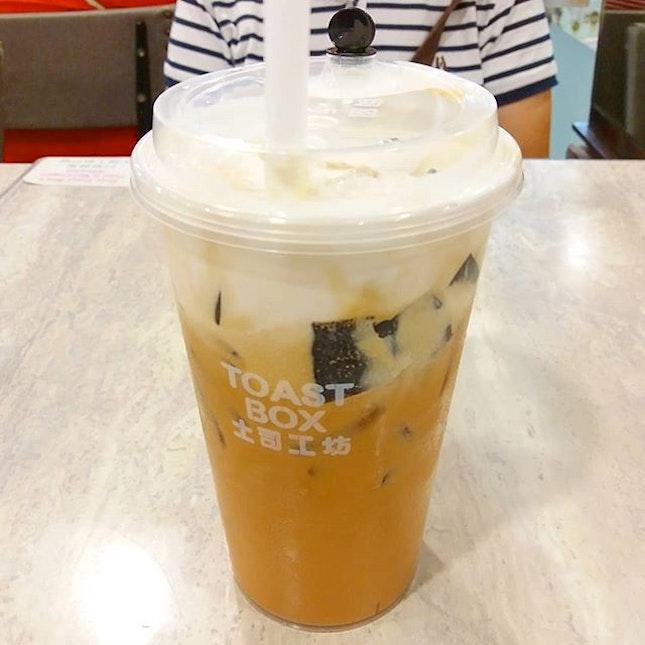 Coffee Jelly Milk Tea at #toastboxsg.
