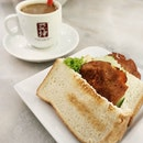 😁 Fish Otah Toastwich (S$4.20) at Yakun for my coffee break.