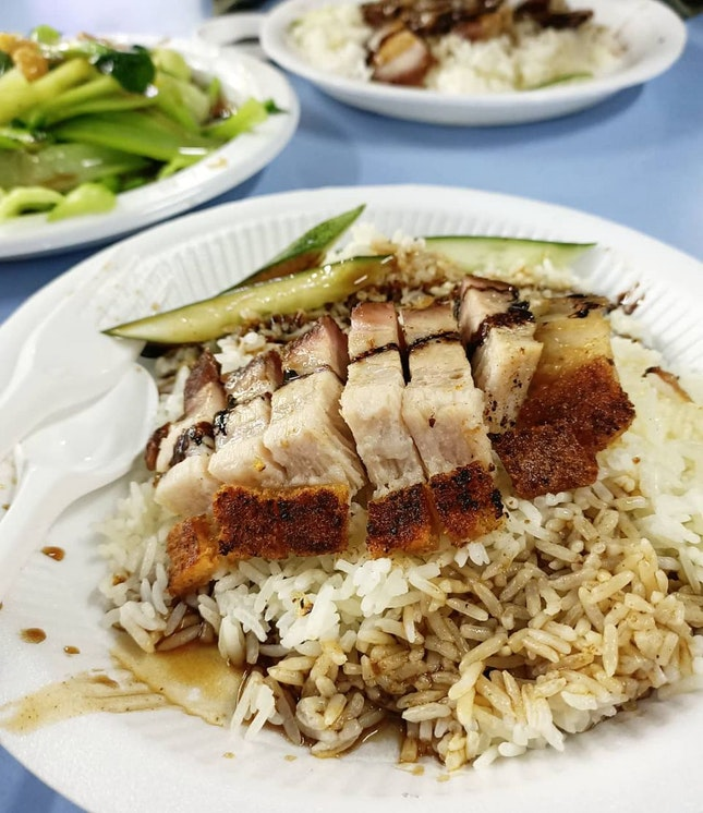 Roast Pork Belly Rice $3