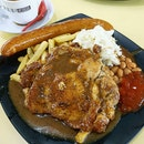Chicken Chop with Sausage