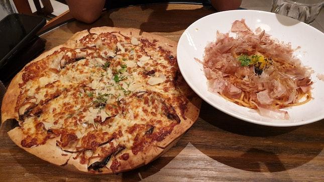 Umami Pasta & Truffle Portobello Mushroom Pizza