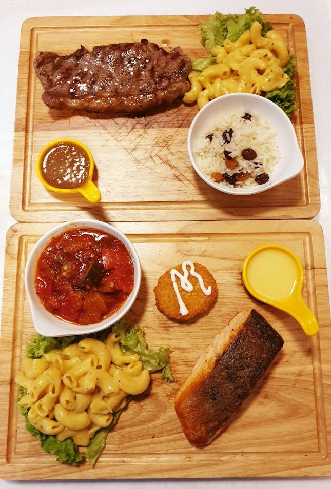 Yuzu Char Grilled Salmon And Steak(~$20)