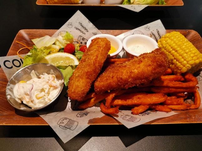Haddock Fish & Chips (18sgd)