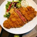 Black Angus Prime Sirloin Steak Katsu Set (35sgd)