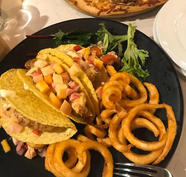 Crispy Fish Fillet Tacos [$23++]