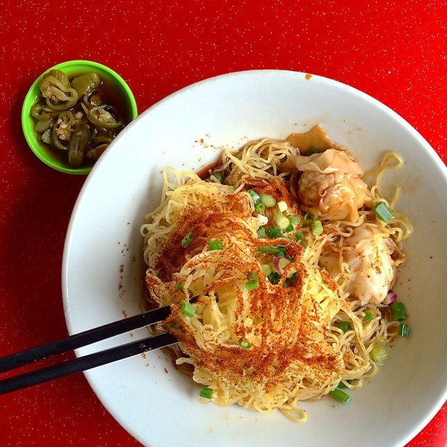 10th August 2014 ☀️Wednesday  Dried prawn roe noodle aka har zi mee ...