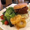 Citrus fish burger