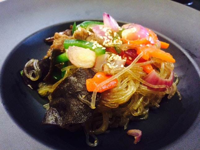 Jap Chae (beef glass Noodles)