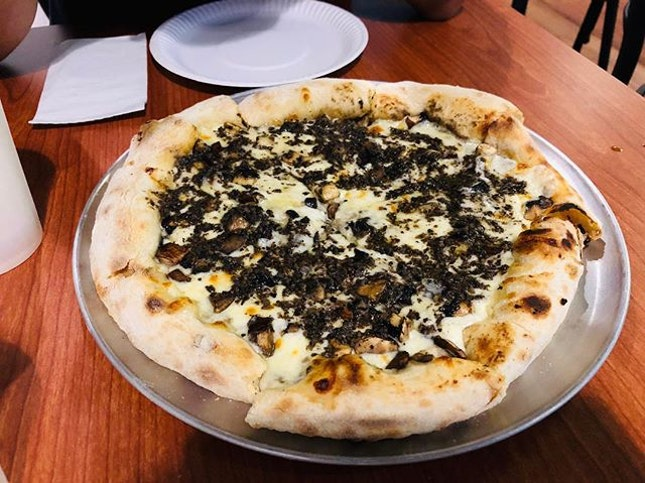 """""""There are little gems all around us that can hold glimmers of inspiration.""""-Richelle Mead  Truffle pizza is such a rare gem to get it well balanced and delicious as the truffle has a rich and pungent earthy aroma and taste and with a creamy cheese which is an ideal pairing for it!"""