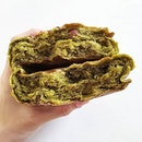 Some dense matcha bread from gokoku bakery!