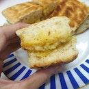 Ciabatta Kaya Toast 🍞 God sent breakfast on such a rainy morning :')) Can't decide whether you want steam kaya bread or kaya toast?