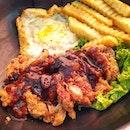 Lunch Set: Chicken Chop rice @ $6!