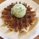 Churros Waffles With Ice Cream ($8.80)