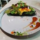 Scrambled Eggs & Asparagus On Open Toast