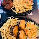 Chicken chop and chicken w mantous