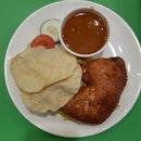 Nasi Briyani With Fried Chicken