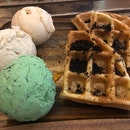 Three Scoops and Waffles