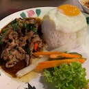 Spicy Basil Beef Rice ($10.80++)