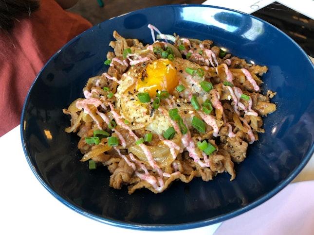 Shabu Pork Rice Bowl With Mentaiko