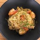 Tom Yum Seafood Pasta [$14]