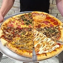 Lunch today was 8 different pieces of New York style pizza, only at @tonyspizzasg!