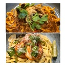 Chili Crab Pasta & Tom Yum Seafood Pasta