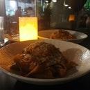 pork cheek pasta / crab pasta